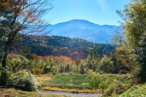 Ausblick von Magome aus auf den Berg Ena