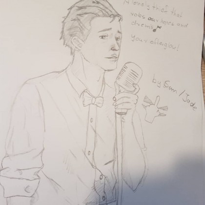 Sam Drake als Jazz Sänger