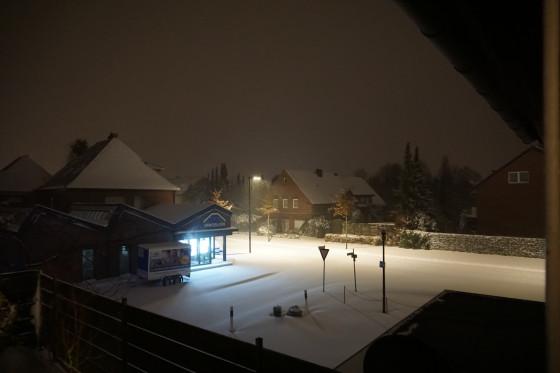 Schneesturm letzte Nacht