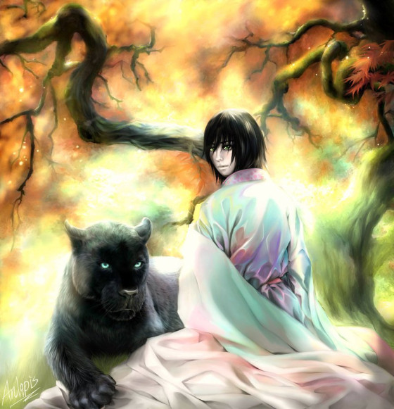 Ulquiorra and his panther