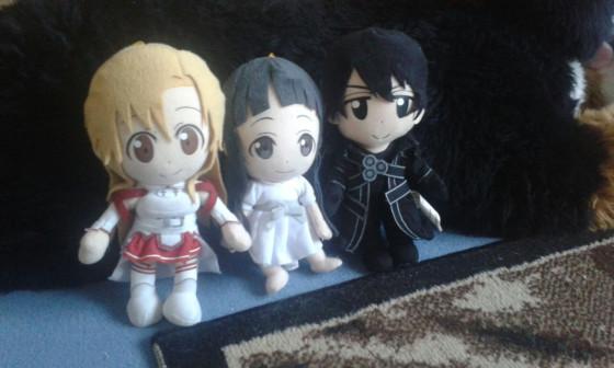 Meine SAO Plüschis (Asuna, Yui, Kirito)