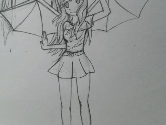Zeichnung Drachenmädchen