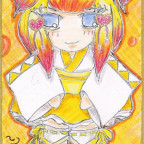 CupCake Commando: Maid Cards Vol. I - Yellow WaLoli Maid Mikan (Maid Card V)