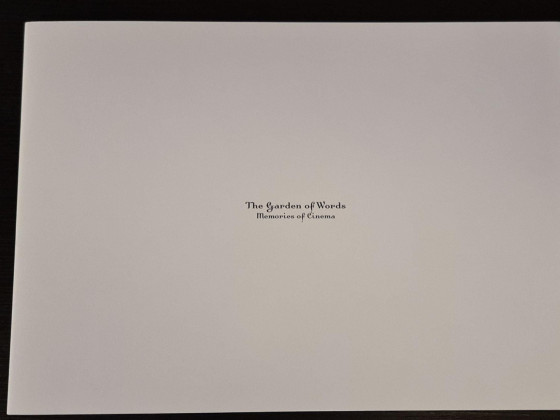 The garden of words Artbook