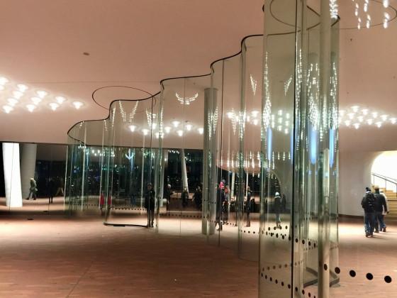 Öffentlich kostenfrei zugänglicher Foyer der Elbphilharmonie in Hamburg