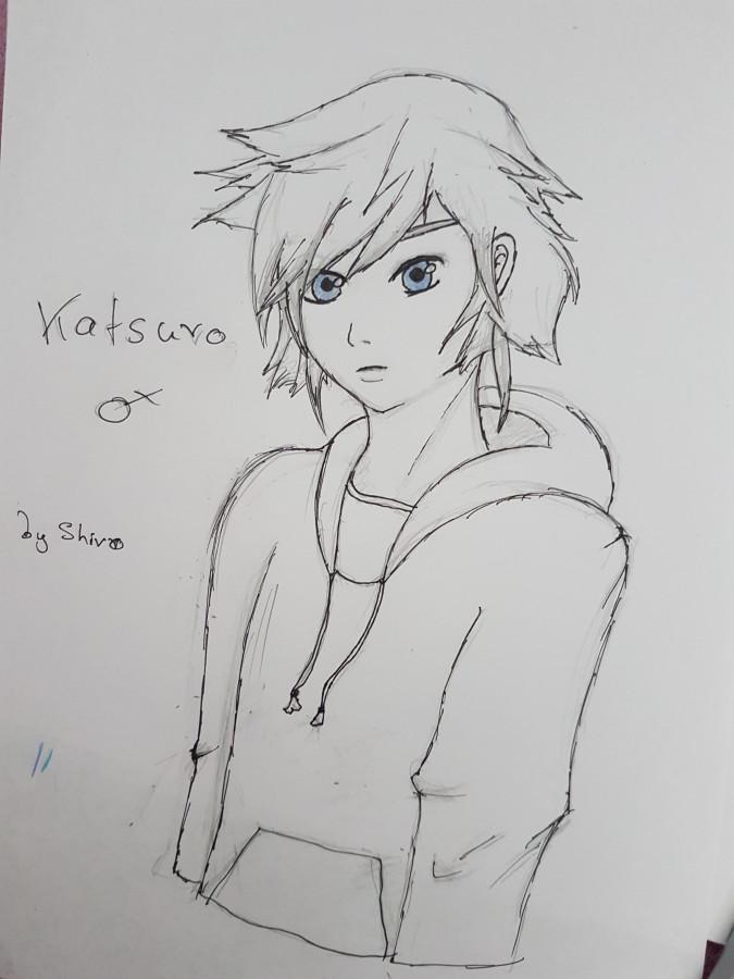 Katsura in black lines mit blauen Augen