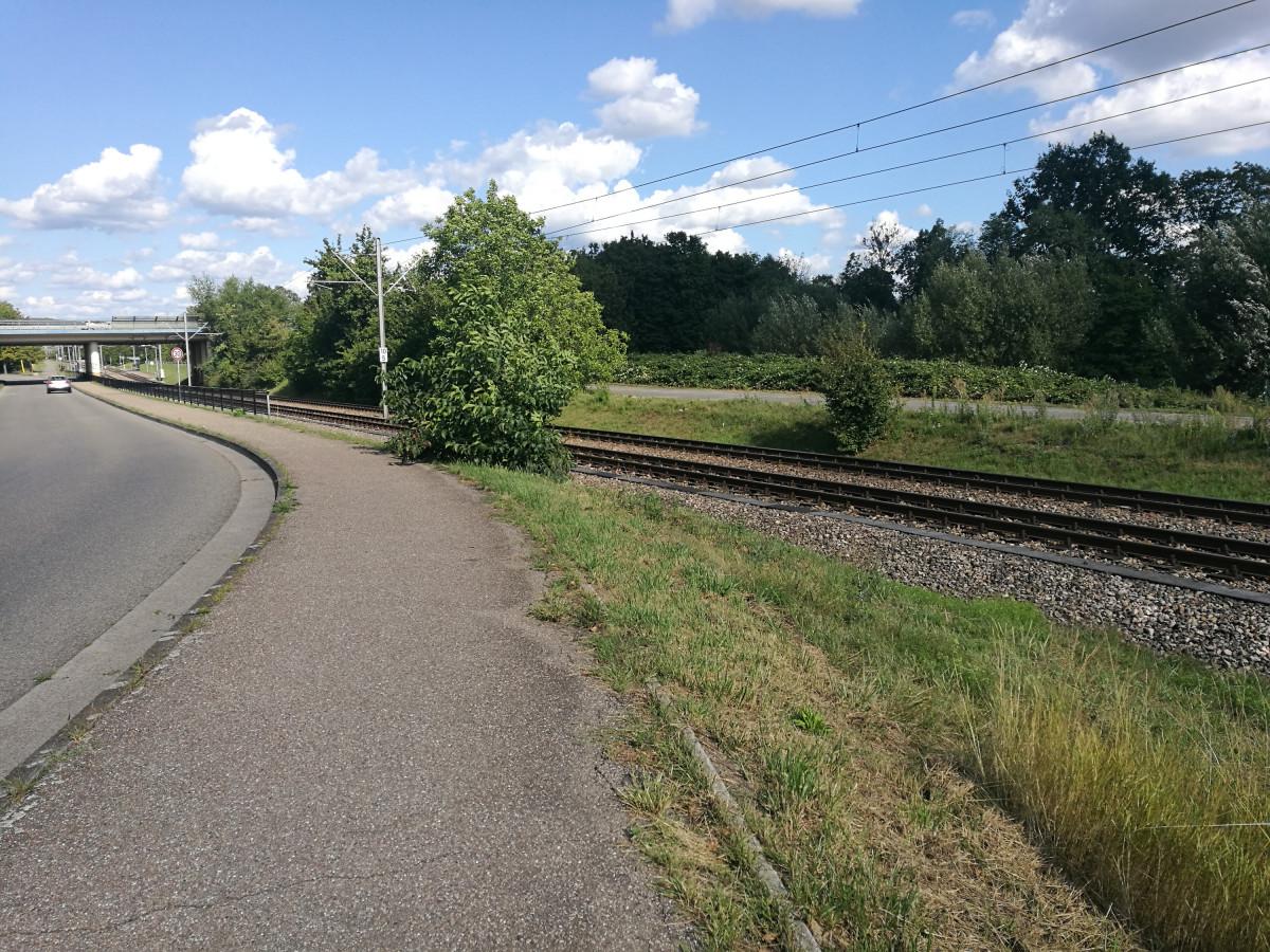 Jogging Route- Straßenbahnlinie