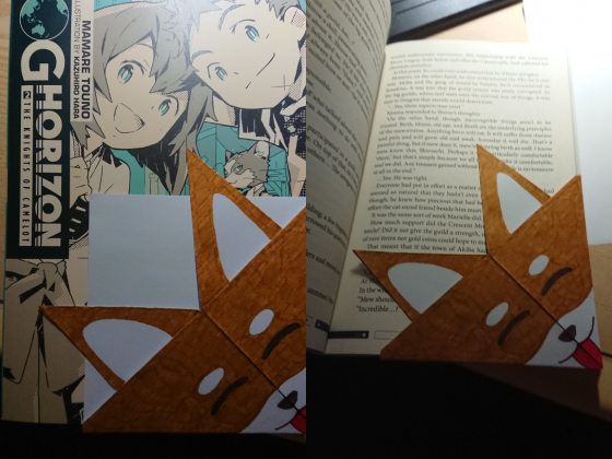 Shiba Origami Lesezeichen