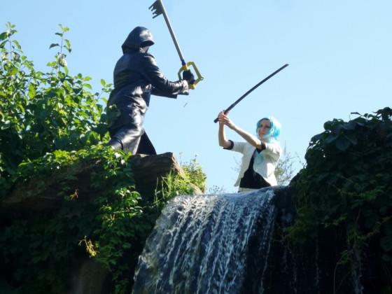 Fight am Wasserfall