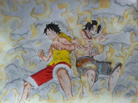 Monkey D. Ruffy & Portgas D. Ace