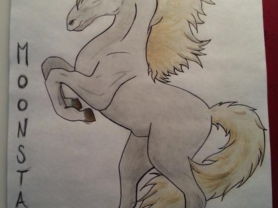Moonstar 01.12.2013 gezeichnet für die kleine Tochter meines Arbeitskollegen
