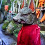 Fuchswächter der Gottheit Inari bei Fushimi Inari Taisha