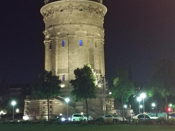 Mannheimer Wasserturm bei Nacht - Animagic 2017