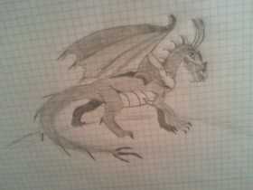 Meine erste Drachenzeichnung