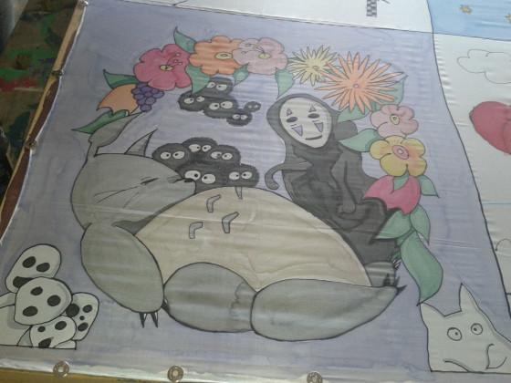 Seidenmalerei - Totoro