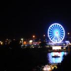 Riesenrad in Stettin bei Nacht