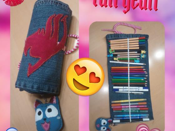 Fairytail-Rollfedermappe - selfmade - handgemacht