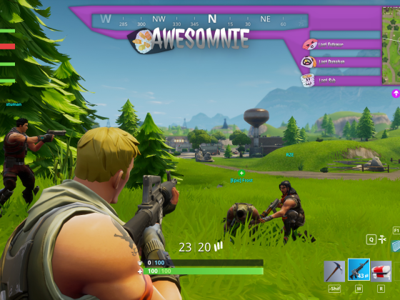 Overlay für Fortnite [Twitch: Awesomnie]